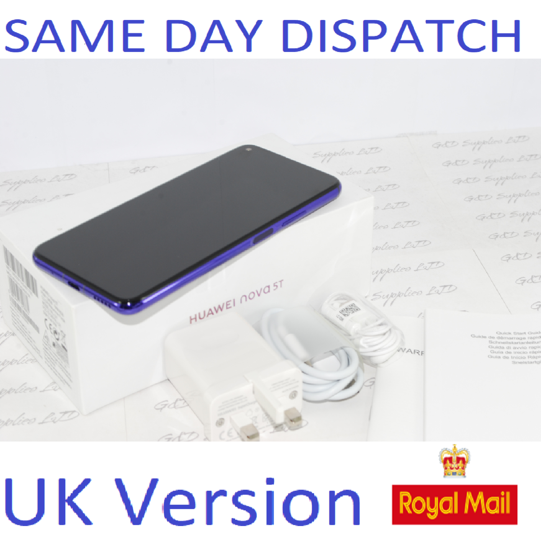 HUAWEI NOVA 5T Smartphone 6GB RAM Dual sim 128GB Purple UNLOCKED UK Version #