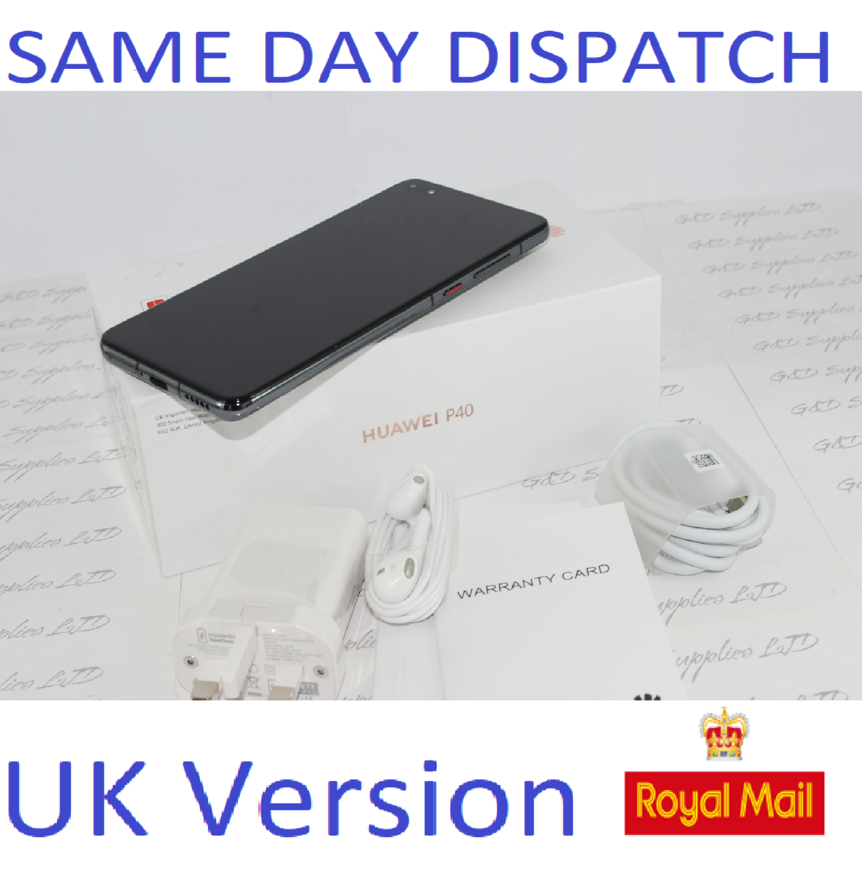 Huawei P40 5G Dual-SIM ANA-NX9 128GB 8GB RAM Black UNLOCKED UK Version # !