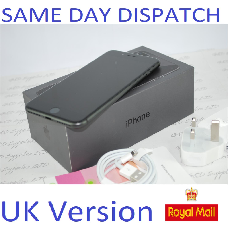 Apple MQ8N2B/A iPhone 8 Plus 4G 64GB Black UK Version NEW Unlocked SIM Free #