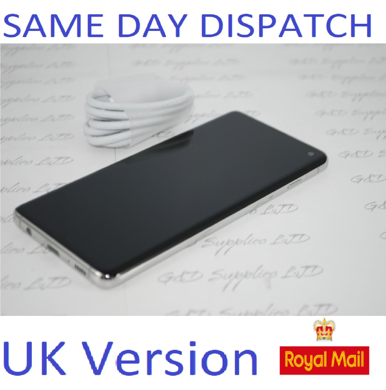 Samsung S10 SM-G973 4G prism White 128GB Dual Sim UNLOCKED  UK Version NO BOX