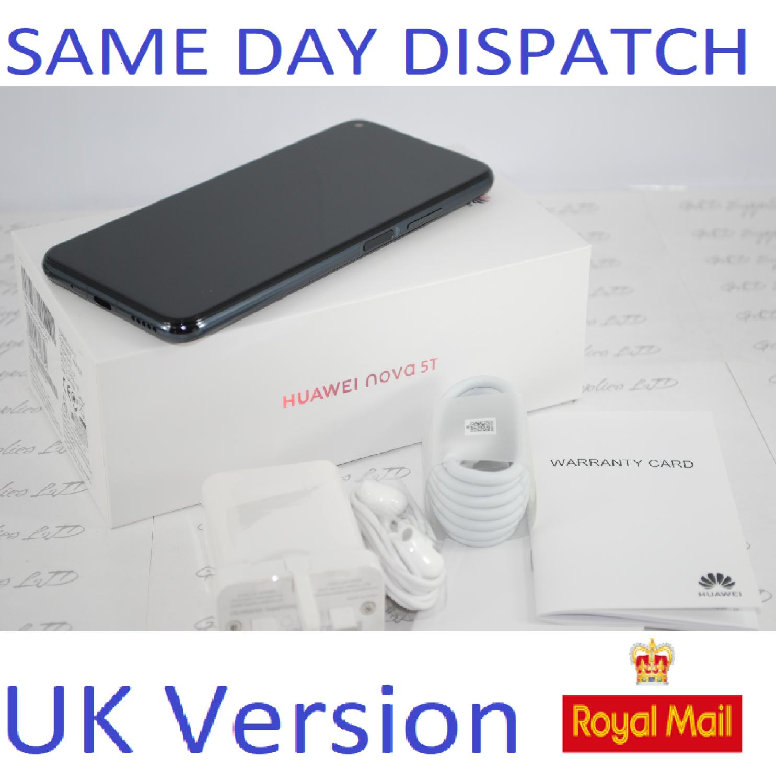 NEW HUAWEI NOVA 5T Smartphone 6GB RAM Dual sim 128GB Black UNLOCKED UK Version