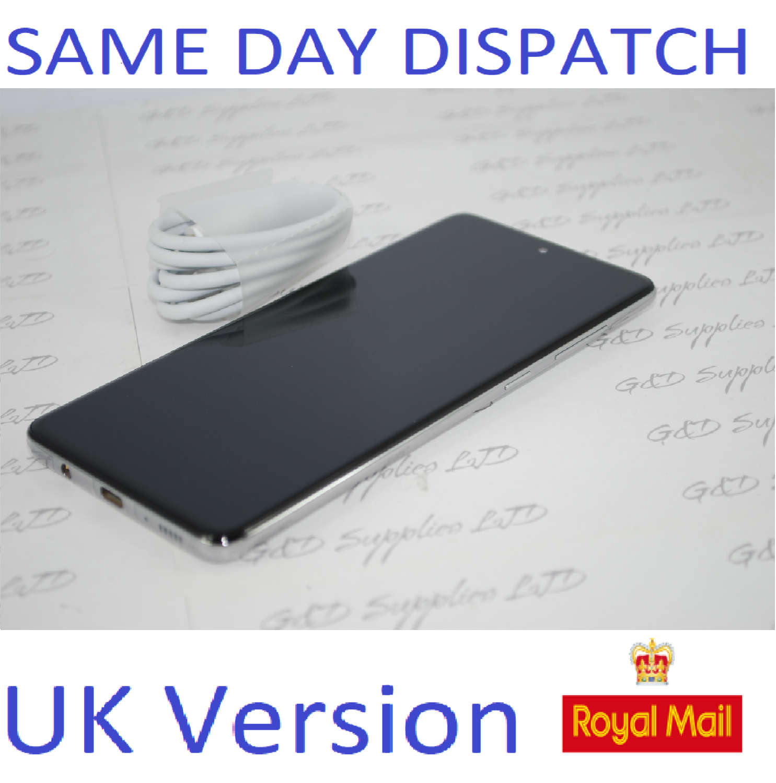 Samsung Galaxy A71 (SM-A715F/DS) - 128GB Prism Crush Silver Dual Sim UNLOCKED  UK Version NO BOX