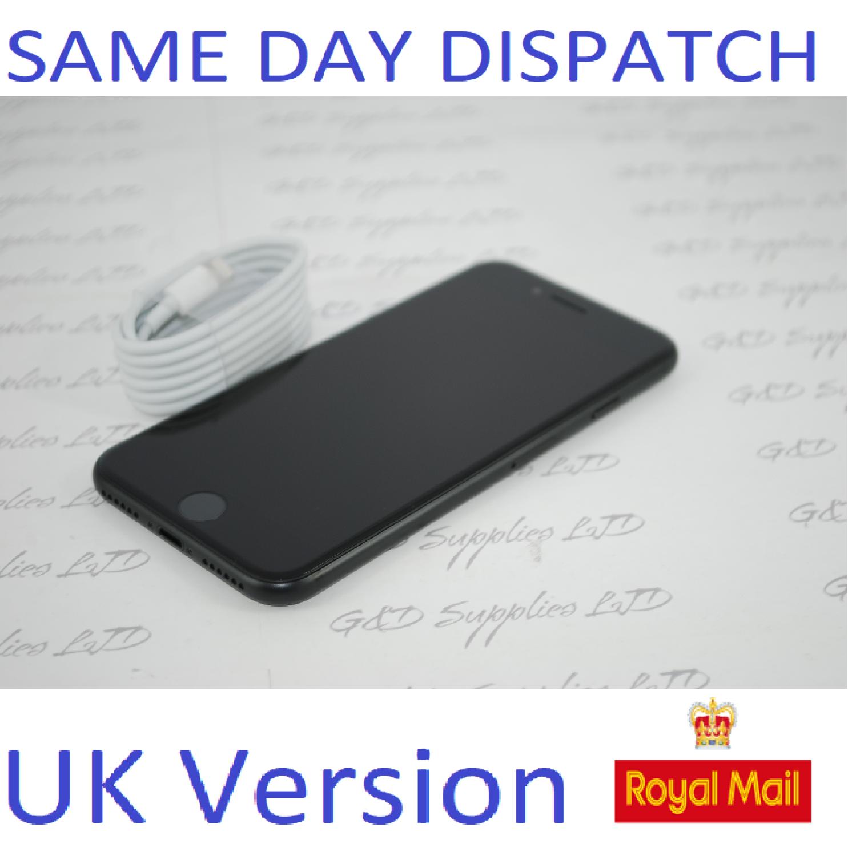 Apple iPhone 7 32GB  Unlocked Black SIM Free UK Version NEW Condition NO BOX