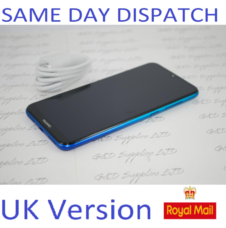 """Huawei Y7 2019 32GB DUB-LX1 UNLOCKED 3GB RAM 4G 6.26"""" Blue Single Sim UK STOCK no box"""