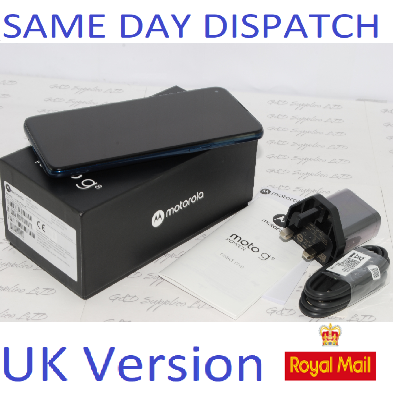 MOTOROLA Moto G8 Power 64GB unlocked Dual-Sim XT2041-3 BLUE UK version #