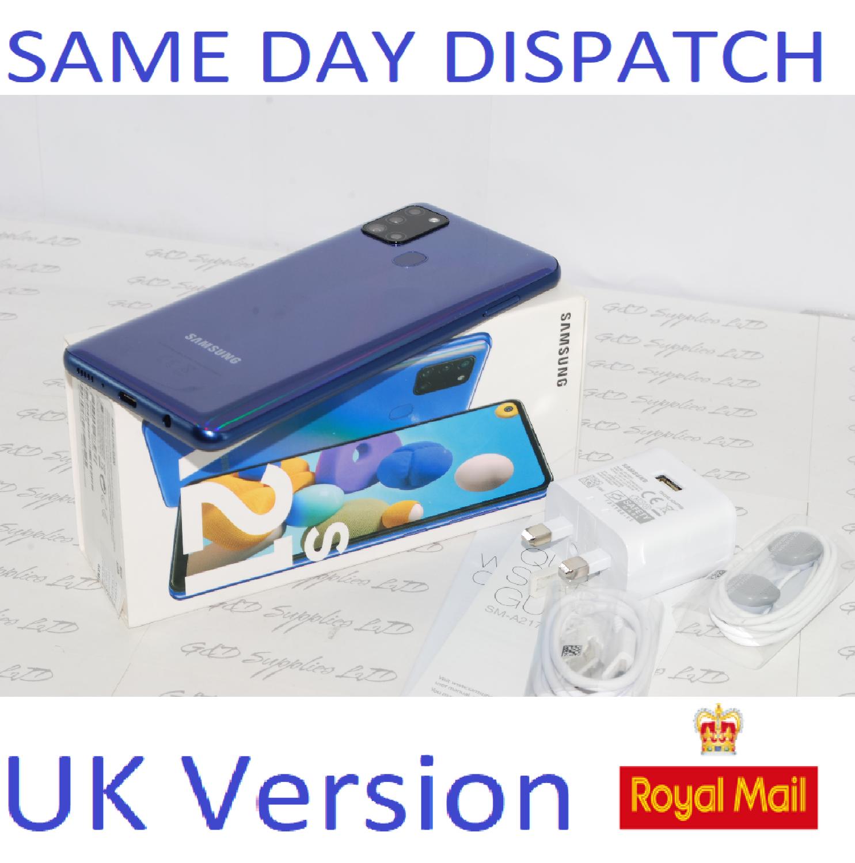 Samsung Galaxy A21S Unlocked 32GB Dual SIM NFC Smartphone BLUE UK Version #
