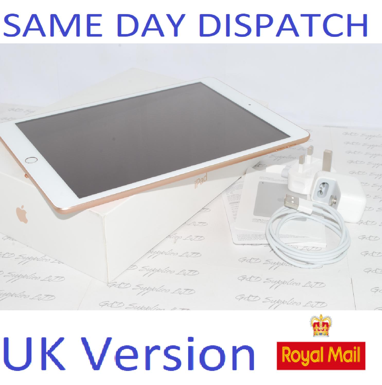Apple iPad 8th Gen. 32GB, Wi-Fi, 10.2 MYLC2B/A Gold UK Version #