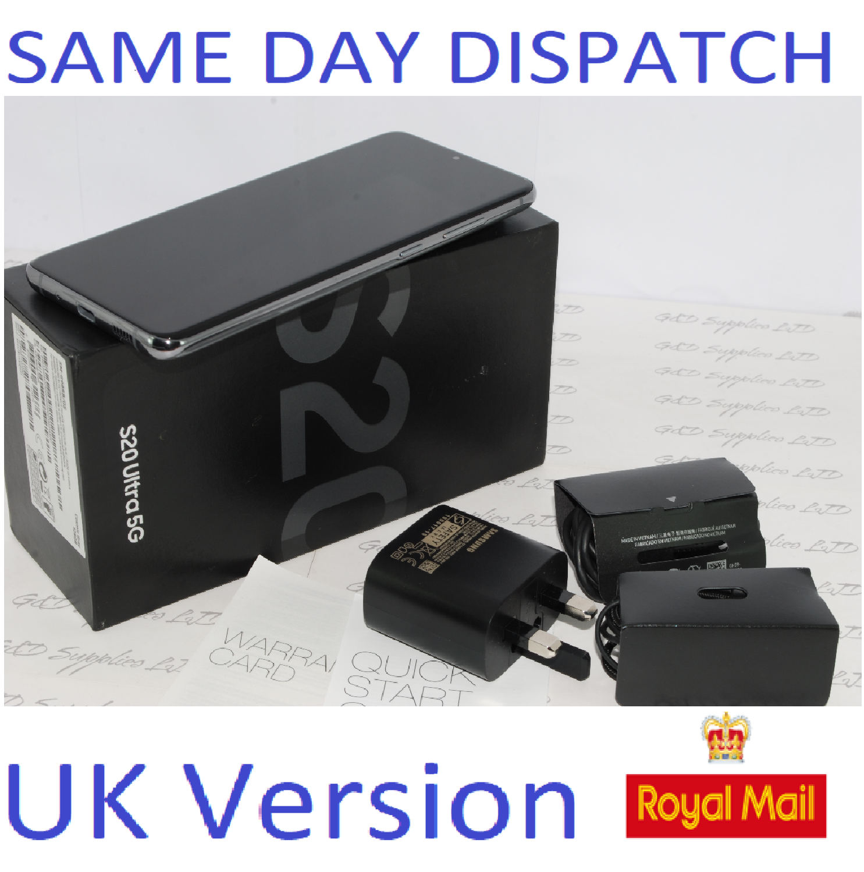 SAMSUNG S20 Ultra 5G 128GB Gray SM-988B/DS  Dual Sim unlocked  UK Version #