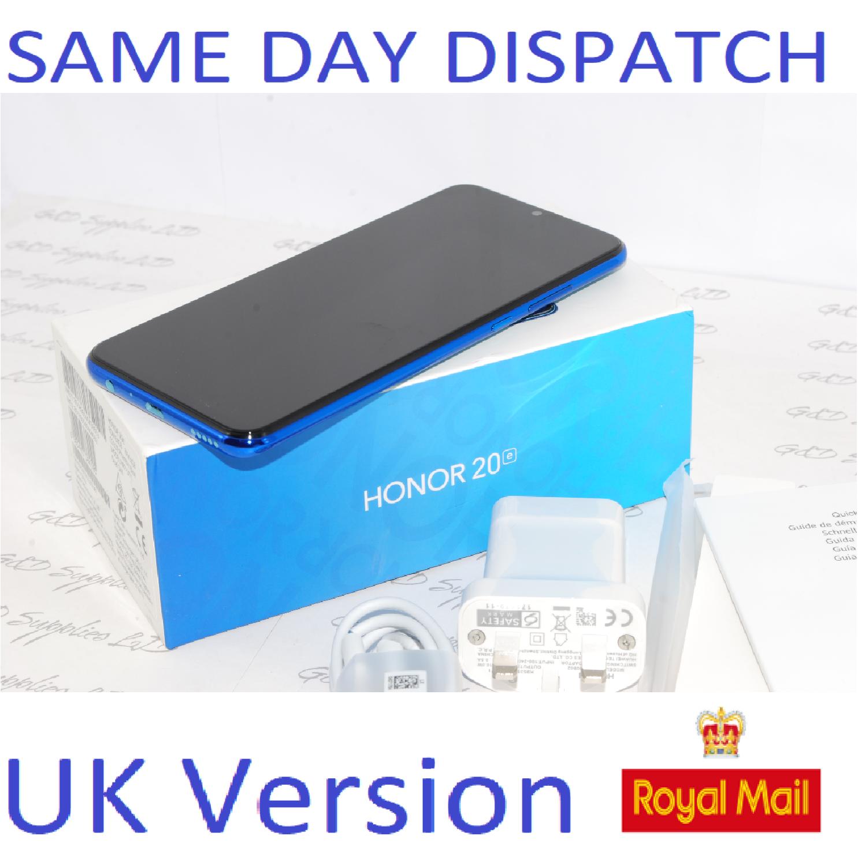 """New Huawei Honor 20e Phantom Blue 6.21"""" 64GB 4GB Dual Sim 4G UK Version"""