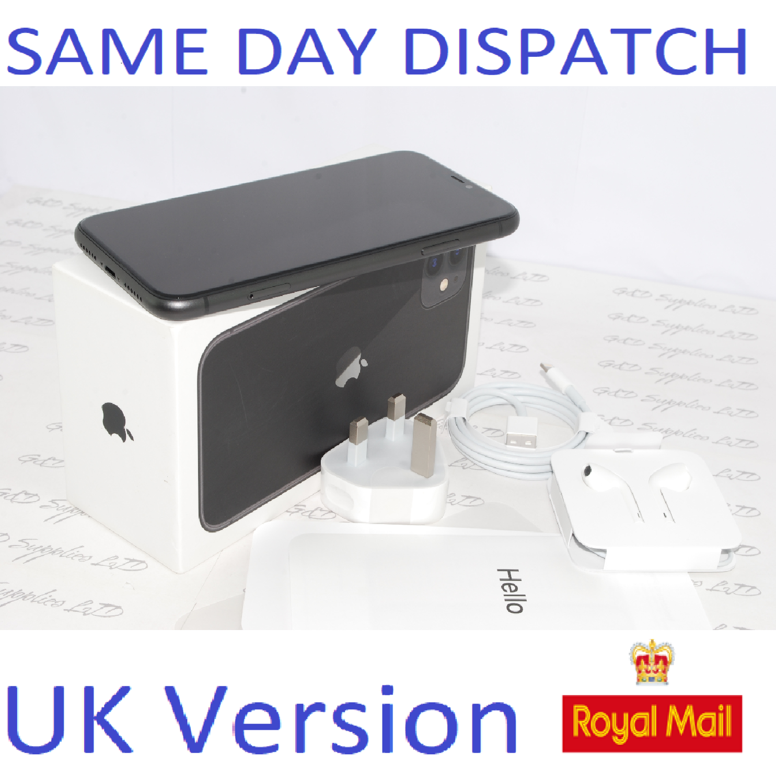 APPLE iPhone 11 128GB Mobile MWM02B/A Black  SIM Free UK Version NEW Condition #