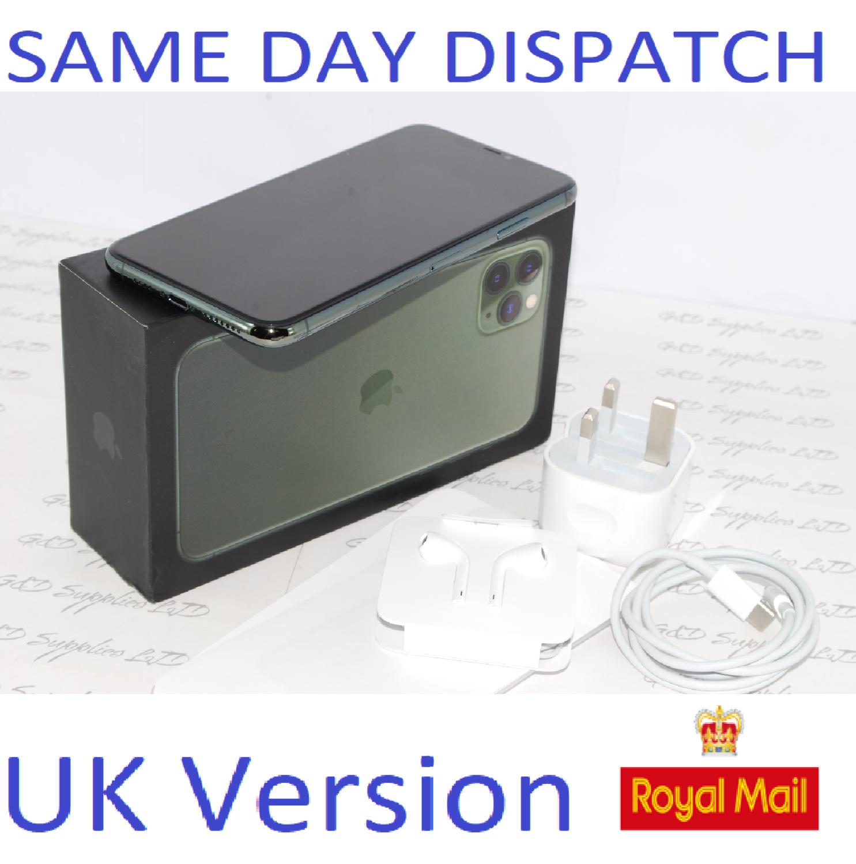 Apple iPhone 11 PRO Max 64GB Midnight Green MWHH2B/A unlocked NEW Condition UK Version #