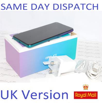 OPPO A72  128GB unlocked Purple CPH2067 Dual-Sim 48MP Camera Sim UK version