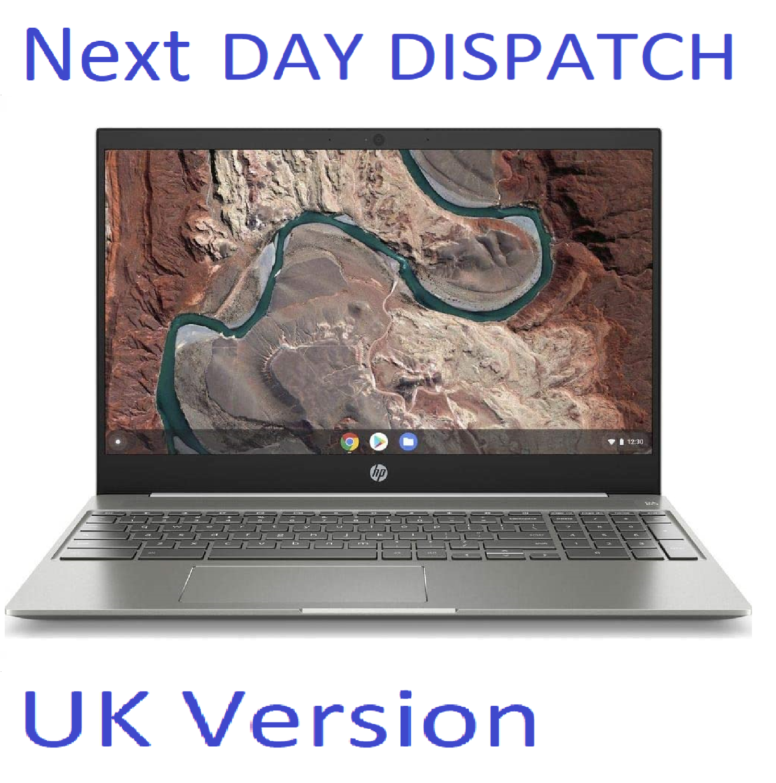 "HP Chromebook 15-de0500na 15.6"" Laptop WHITE  4GB RAM 64GB  Chrome OS UK Stock"