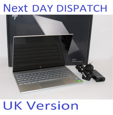HP ENVY 13-AQ0502SA INTEL i7 8TH GEN 8565U 1.8GHz 8GB RAM 512GB SSD TOUCHSCREEN UK Stock