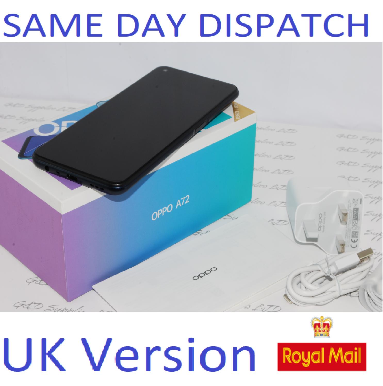 OPPO A72  128GB unlocked Black CPH2067 Dual-Sim 48MP Camera Sim UK version #