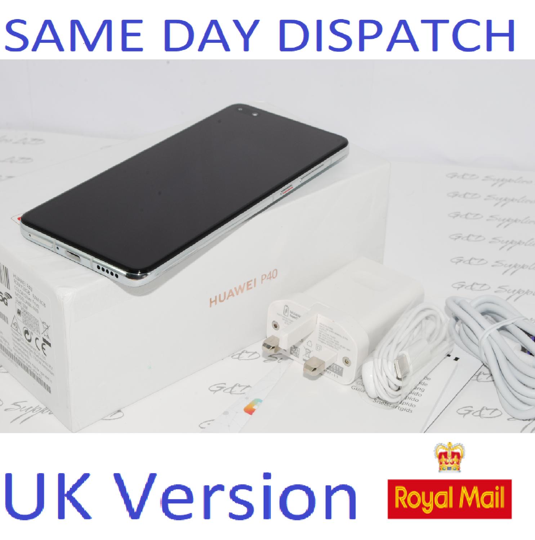 Huawei P40 5G Dual-SIM ANA-NX9 128GB 8GB RAM Silver UNLOCKED UK Version boxed # !
