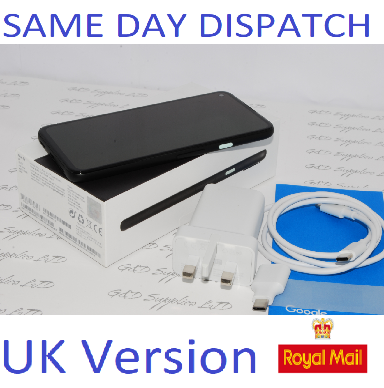 Google Pixel 4a Mobile Phone - Unlocked - 128GB Just Black  UK version #