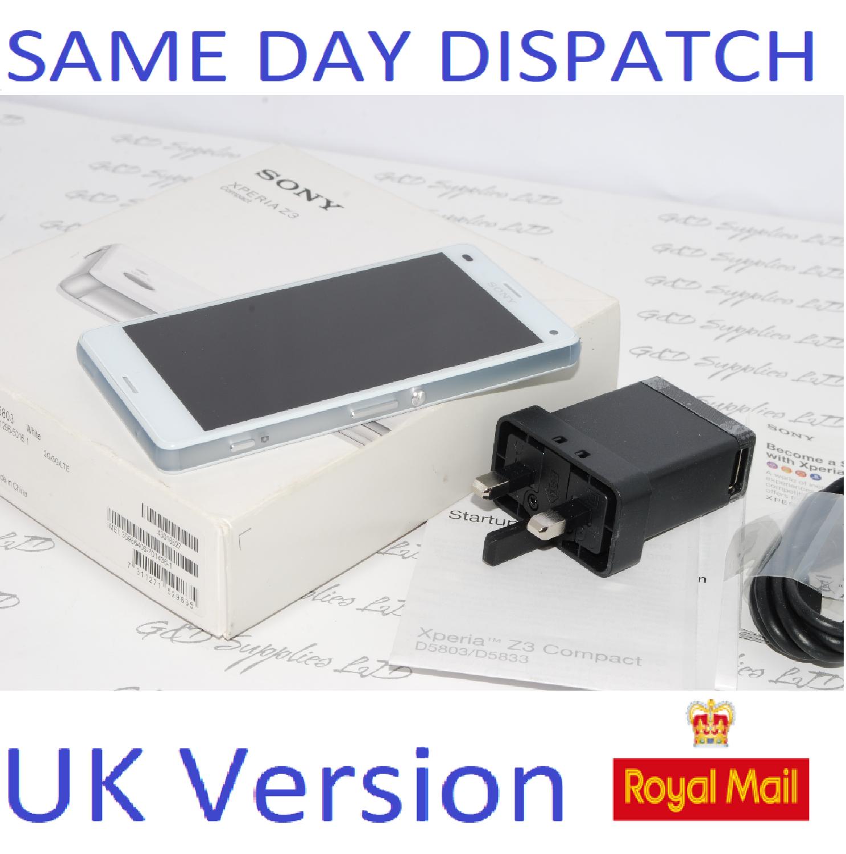Sony Xperia Z3 Compact D5803 - 16GB Unlocked white SIM Free  UK Stock