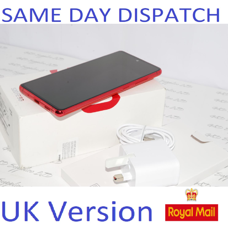 SAMSUNG Galaxy S20 FE 5G SM-G781B/DS unlocked 128GB Cloud Red UK Version #
