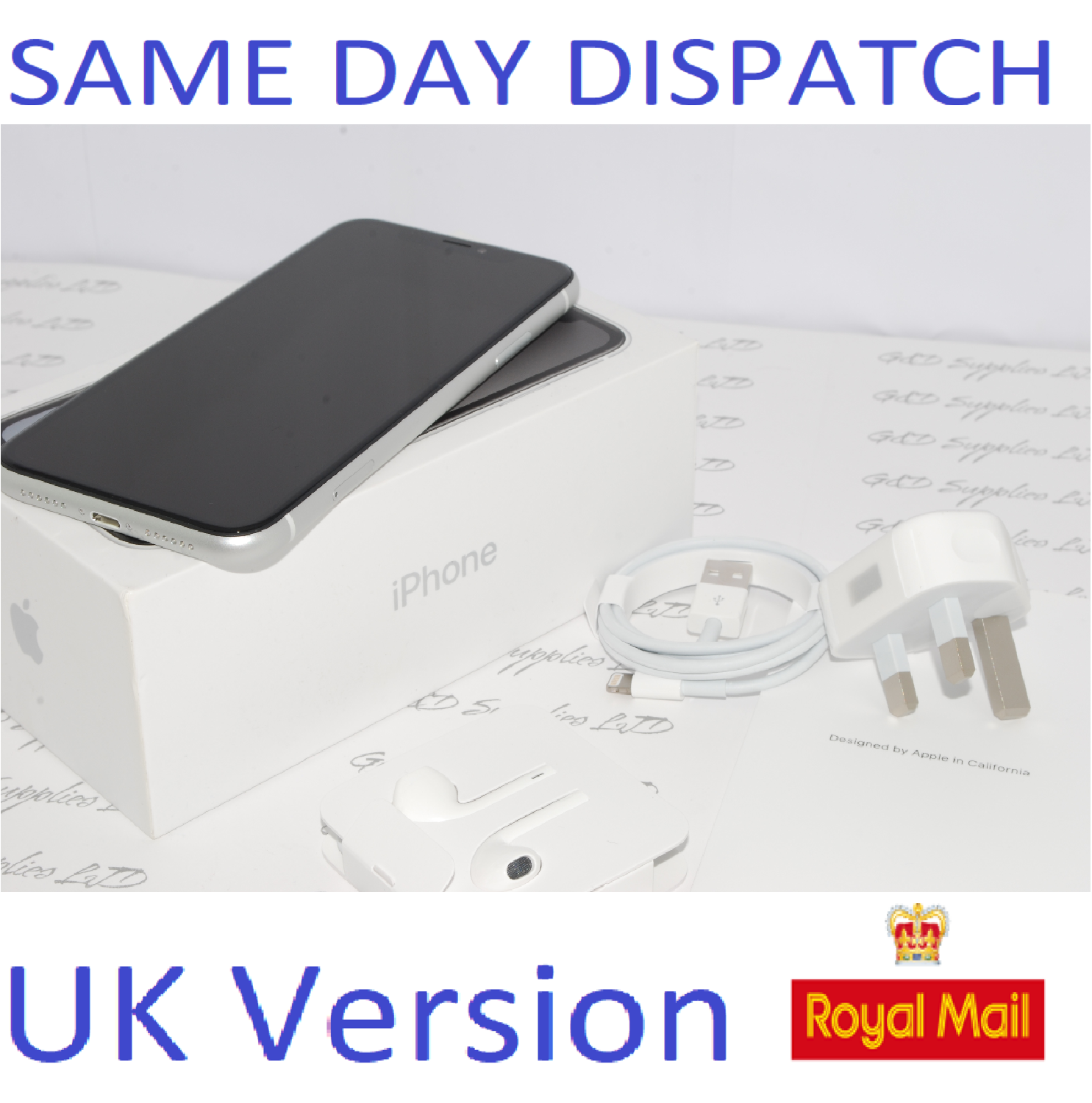 Apple iPhone XR 64GB MRY52BA White SIM Free UK Version NEW Condition #
