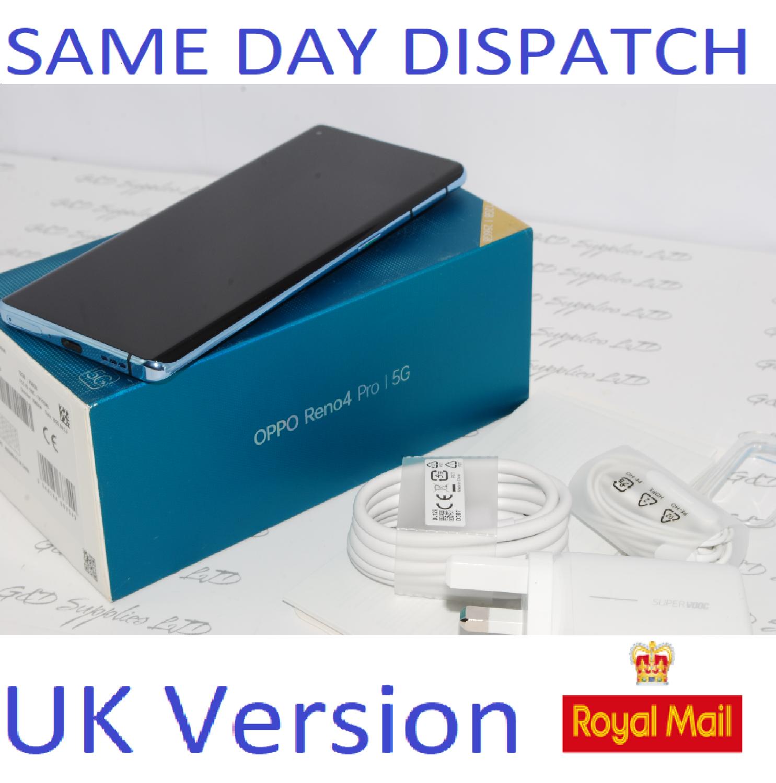 NEW OPPO Reno4 Pro 256GB 5G UNLOCKED  BLUE CPH2089 Dual-Sim 12GB RAM  UK version
