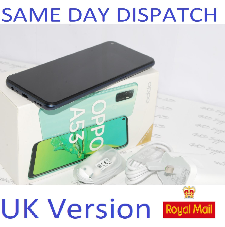 "OPPO A53 64GB SIM-free Smartphone 6.5"" HD LCD Touchscreen Dual Sim Unlocked UK version #"