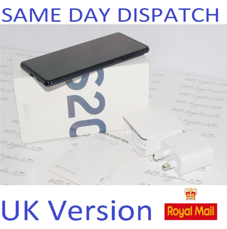 SAMSUNG Galaxy S20 FE 4G SM-G780F/DS unlocked 128GB Cloud Navy UK Version #