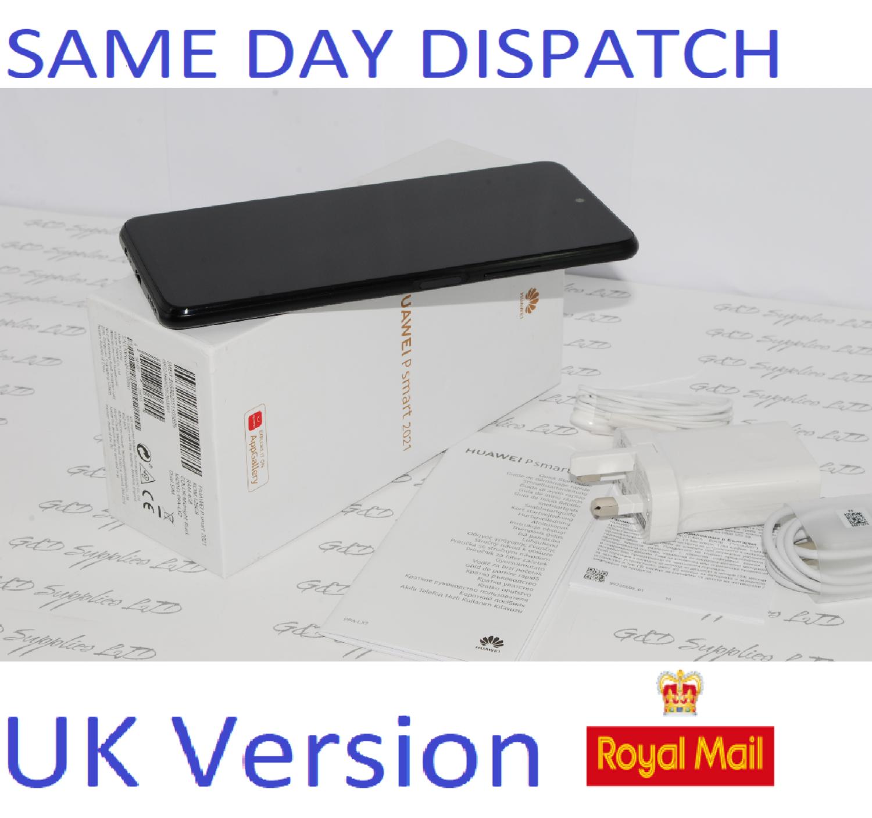 NEW HUAWEI P Smart (2021) SIM-FREE 128GB, Black UNLOCKED UK Version