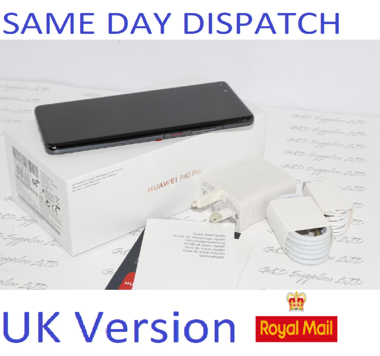 Huawei P40 Pro 5G 256GB 8GB RAM Black  Dual Sim UNLOCKED UK Version #