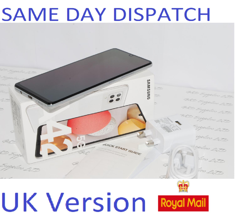 "SAMSUNG Galaxy A42 5G 128GB Prism White 6.6"" Unlocked  Dual SIM UK Version #"