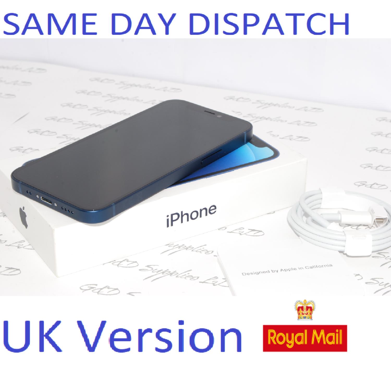 "iPhone 12 Mini Blue 5.4"" 256GB 5G Unlocked SIM Free MGED3B/A Blue UK Version NEW Condition #"