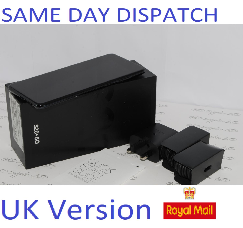 Samsung Galaxy S20 + 5G SM-G986B/DS 128GB 12GB Cosmic Black Dual Sim unlocked  UK Version #