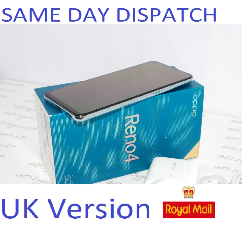 "Oppo Reno 4  Blue 6.4"" 128GB Dual SIM 5G Android 8GB RAM Sim Free Unlocked UK version #"