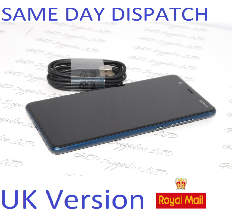 "Nokia 5.1 2018 Unlocked 4G LTE Mobile Phone, 5.5""  Blue 16GB UK STOCK NO BOX"