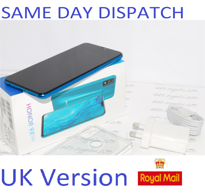 NEW HONOR 9X Lite 128GB Mobile Phone - Green Unlocked Dual-SIM 4G Unlocked Huawei  UK version