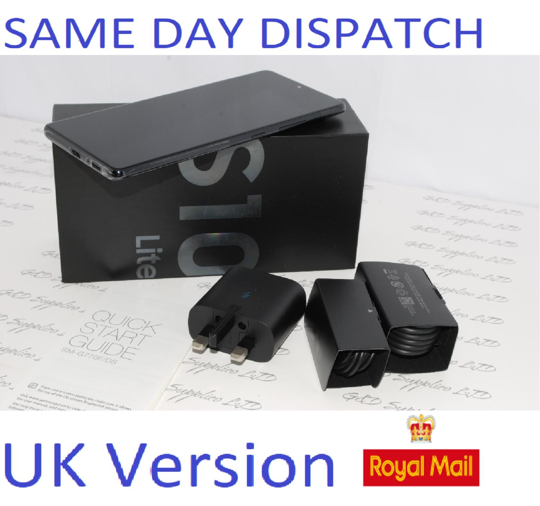Samsung S10 Lite SM-G770F/DS 128GB 8GB Ram  Black Dual Sim UNLOCKED  UK Version #