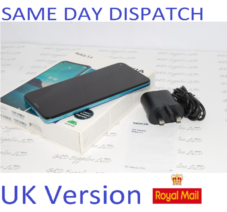 Nokia 3.4 Smartphone 32GB Unlocked Dual-Sim  Blue UK version #