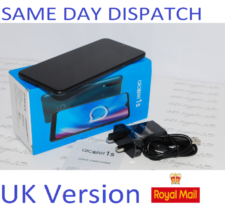 Alcatel 1S 2020 32GB 3GB RAM Unlocked Sim Free 32GB Power Grey Dual Sim UK STOCK #