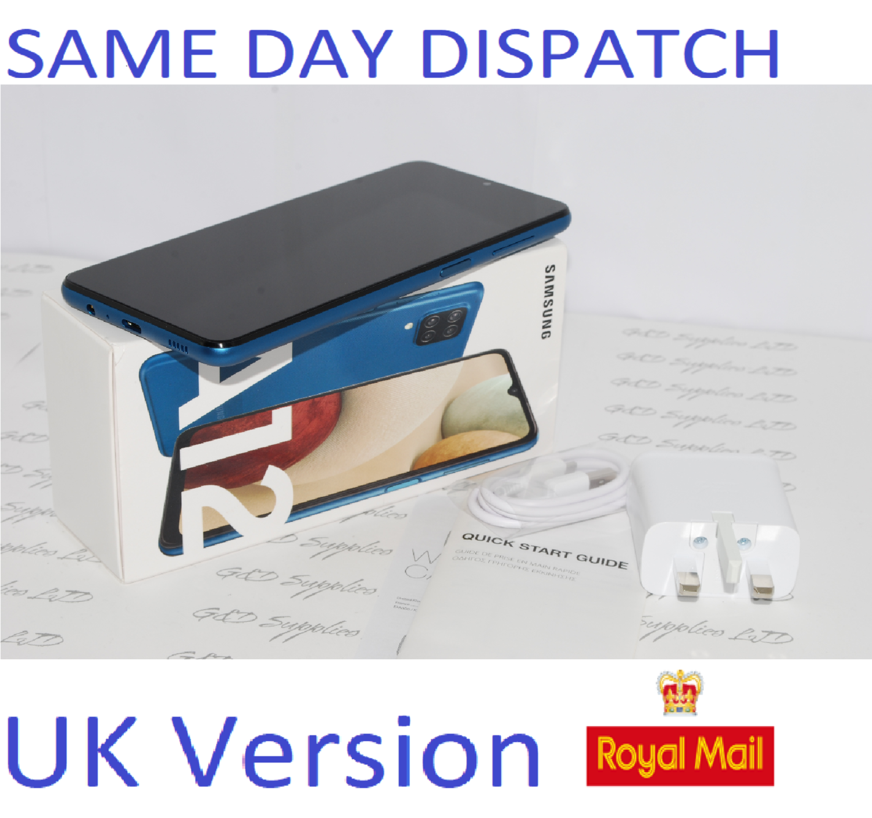 Samsung Galaxy A12  Unlocked 64GB Dual SIM NFC Smartphone BLUE UK Version #