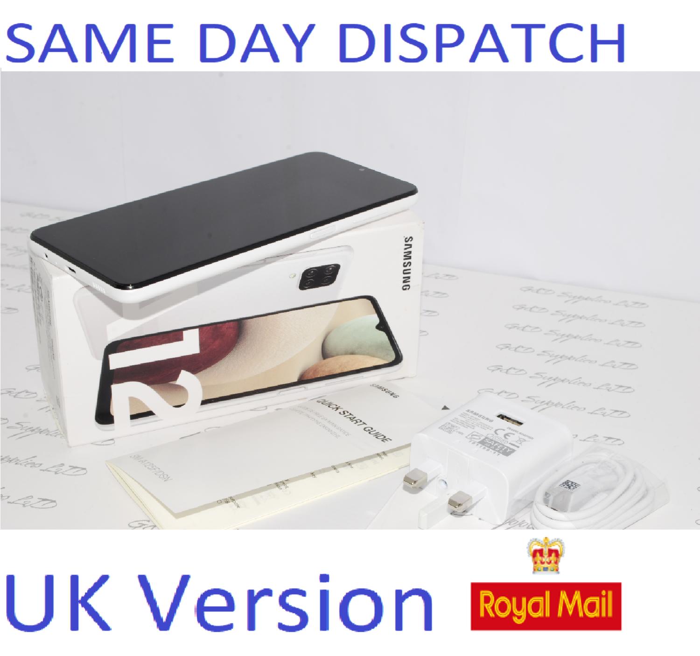 Samsung Galaxy A12  Unlocked 64GB Dual SIM NFC Smartphone white UK Version #
