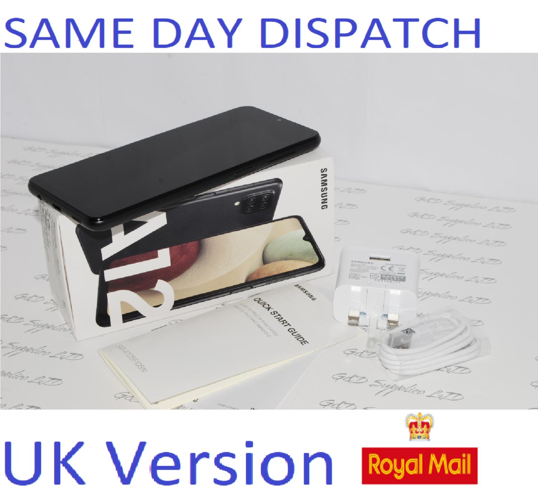 Samsung Galaxy A12  Unlocked 64GB Dual SIM NFC Smartphone Black UK Version #