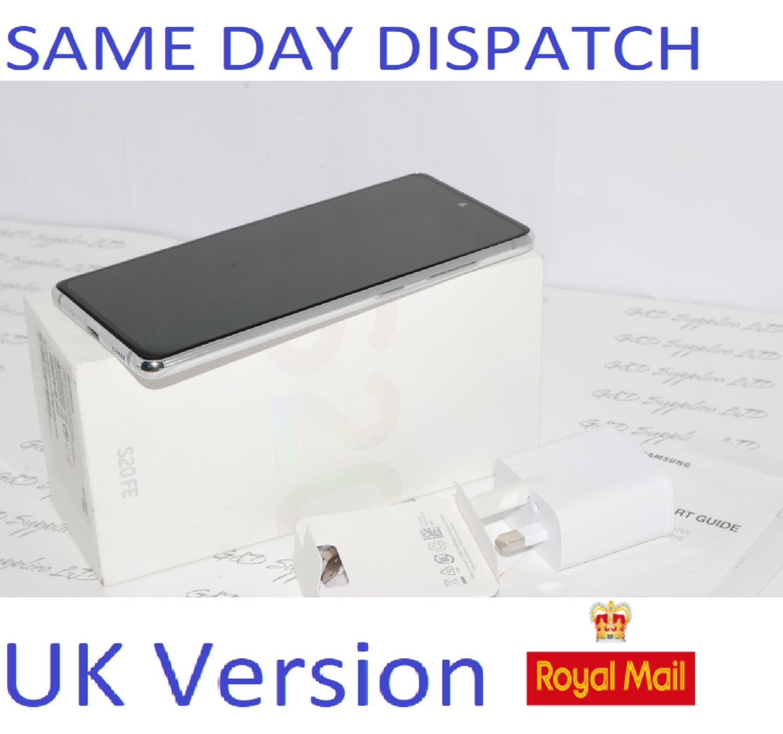 SAMSUNG Galaxy S20 FE 4G SM-G780F/DS unlocked 128GB Cloud White UK Version #