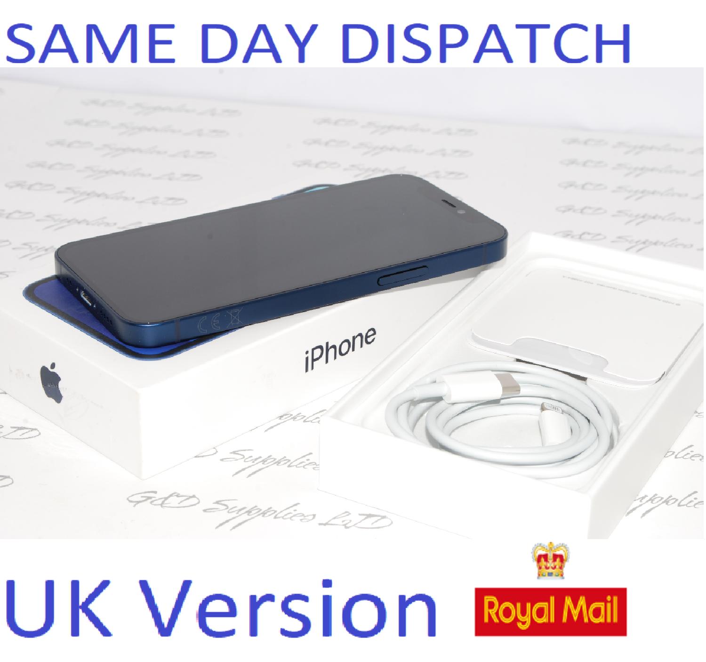 "iPhone 12 Mini Blue 5.4"" 64GB 5G Unlocked SIM Free MGE13B/A UK Version NEW Condition #"