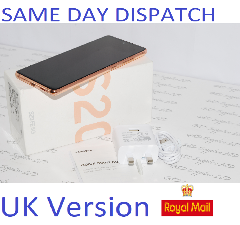 SAMSUNG Galaxy S20 FE 5G SM-G781B/DS unlocked 128GB Cloud Orange UK Version #