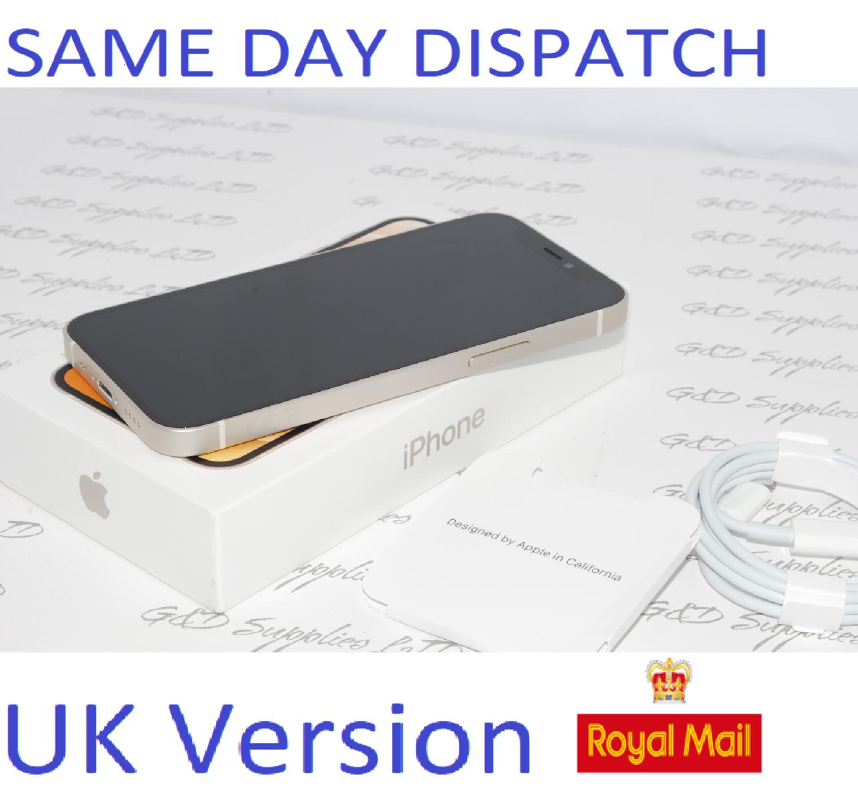 "iPhone 12 Mini White 5.4"" 64GB 5G Unlocked SIM Free MGDY3B/A UK Version NEW Condition #"