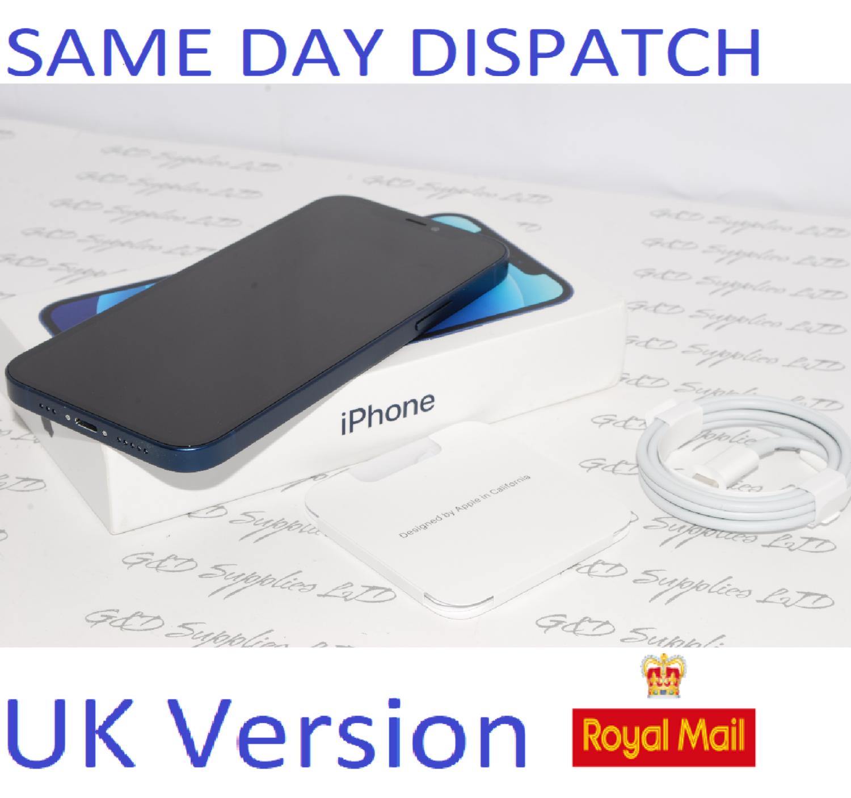 "APPLE iPhone 12 64GB 6.1"" 5G SIM-free Unlocked 12MP Blue  MGJ8B/A UK Version NEW Condition #"