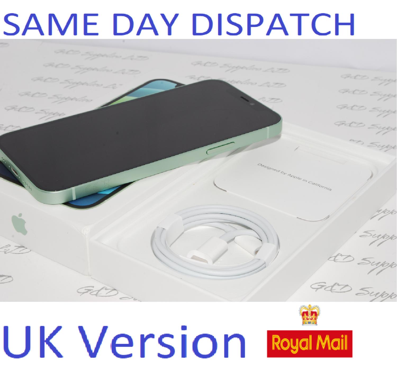 "APPLE iPhone 12 64GB 6.1"" 5G SIM-free Unlocked 12MP Green MGJ93B/A UK Version NEW Condition #"