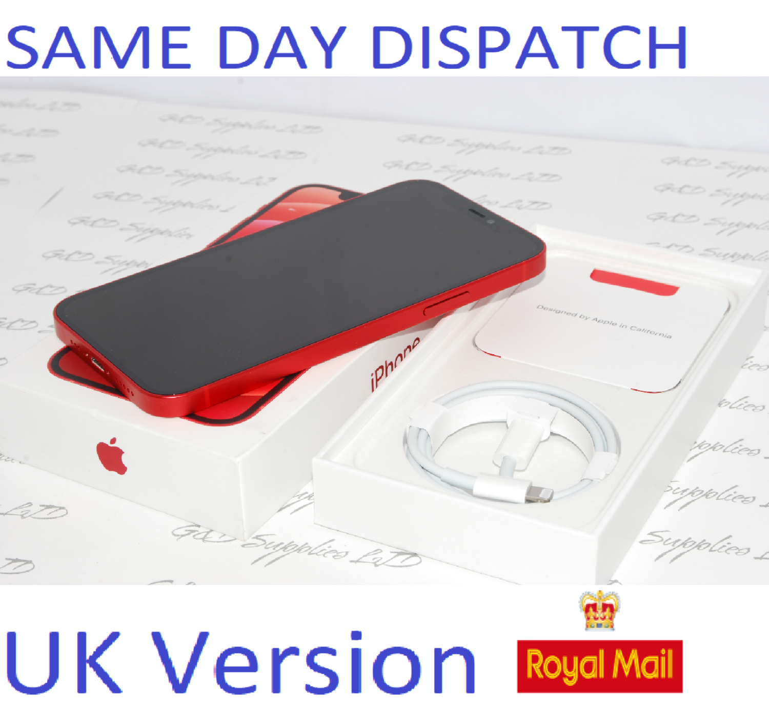 """iPhone 12 Mini RED 5.4"""" 64GB 5G Unlocked SIM Free MGE03B/A UK Version NEW Condition #"""