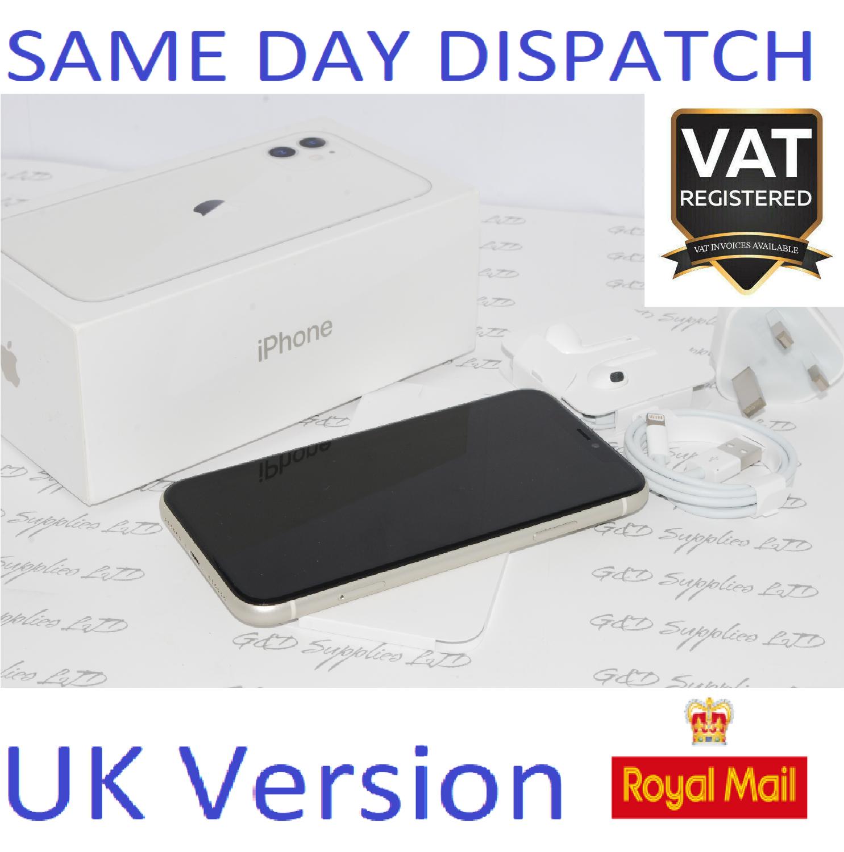 Apple iPhone 11 64GB Mobile unlocked White SIM Free UK Version NEW Condition #