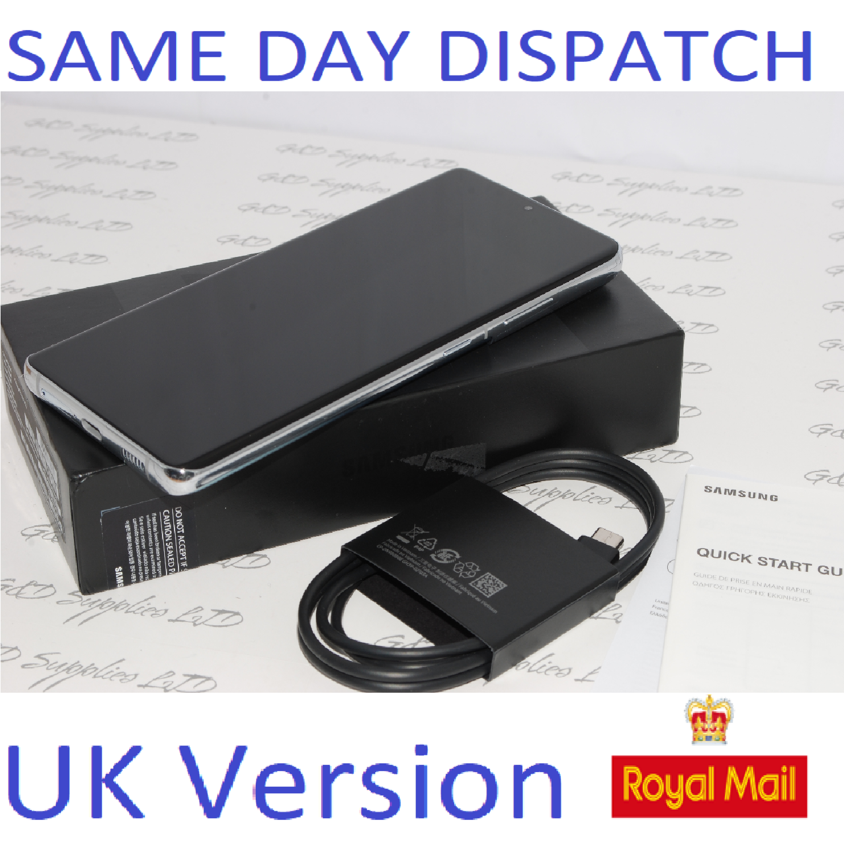 "SAMSUNG S21 Ultra 256GB 6.8"" SIM-free 5G unlocked Dual Sim Silver UK Version"